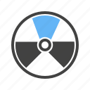 atomic, danger, radiations, zone icon