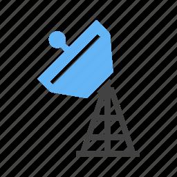 satellite, signals, spreading, tower icon