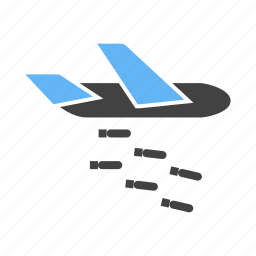 bullets, dropping, missiles, plane icon