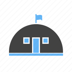 base, camp, house, military icon