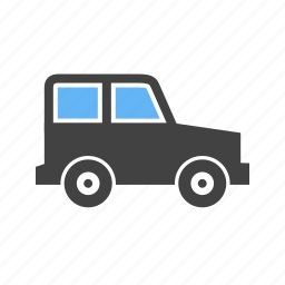 driving, jeep, on, roads icon