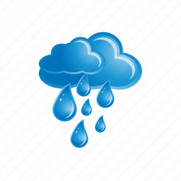 blue, cloud, forecast, rain, weather icon
