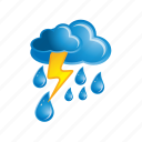 lightning, cloud, clouds, cloudy, rain, storm, weather icon