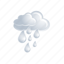cloud, cloudy, drop, forecast, rain, storm, weather icon