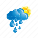 cloud, cloudy, forecast, rain, sun, sunny, weather icon