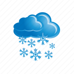 cloud, cloudy, snow, snowflake, winter icon