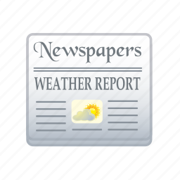 cloud, data, forecast, newspapers, report, weather icon