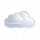 white, cloud, weather, data, cloudy, forecast icon