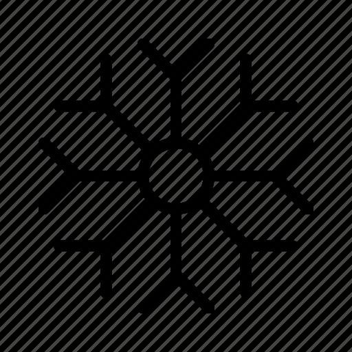 atmosphere, condition, forecast, snow, snowflake, weather icon