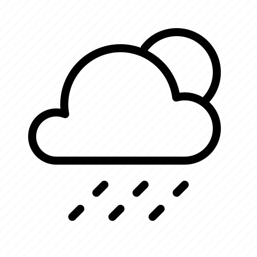 atmosphere, cloud, condition, forecast, rain, sun, weather icon