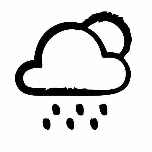 atmosphere, cloud, condition, forecast, rain, sun, weather icon