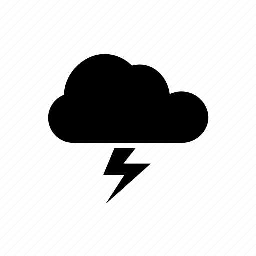 cloud, forecast, overcast, thunder, weather icon