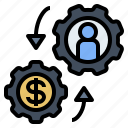 buyer, demand, economic, seller, supply icon