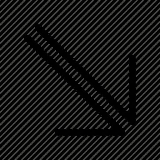 app, arrow, bottom, down icon