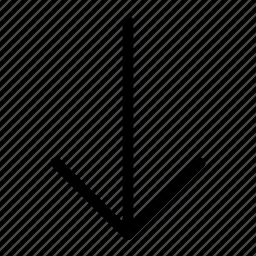 arrow, bottom, down icon