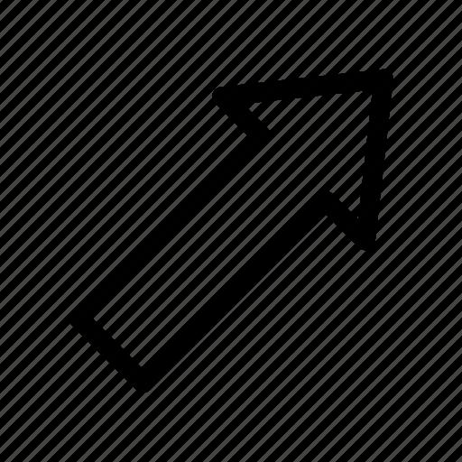 arrow, right, top icon icon