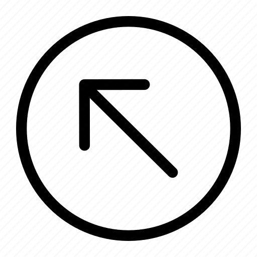 arrow, left, top icon, up icon
