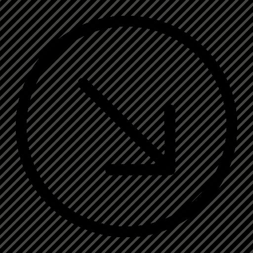 app, arrow, bottom icon, right icon icon