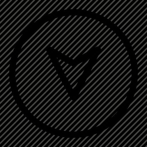 app, arrow, bottom iocn, interface icon