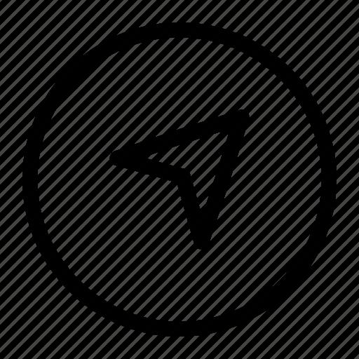app, arrow, interface, up icon icon
