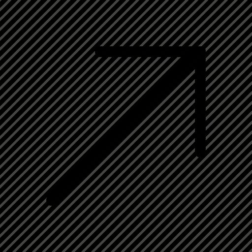 app, arrow, right, up icon icon