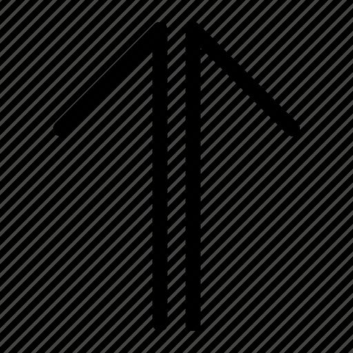 app, arrow, top, up icon