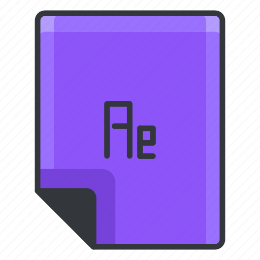 ae, document, documents, extension, file, format icon