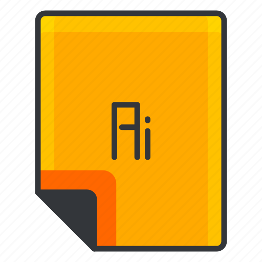 adobe, document, extension, file, format, illustrator icon