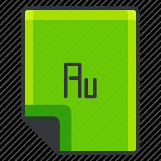 au, document, extension, file, files, format icon