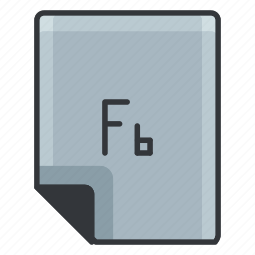 document, extension, fb, file, format icon