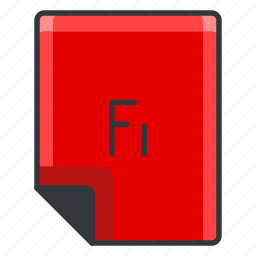 document, extension, fi, file, format, page icon