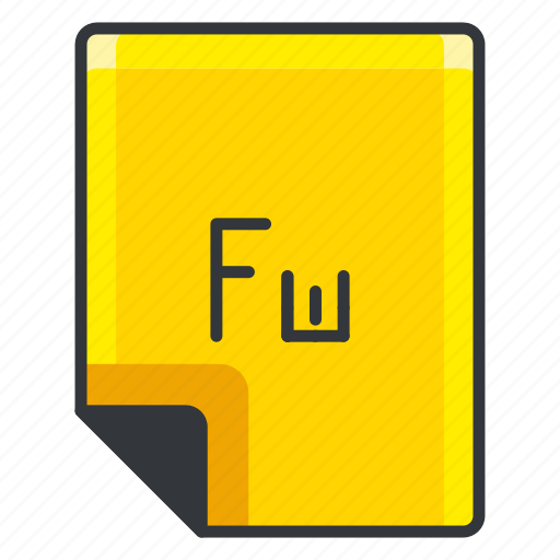 document, extension, file, format, fw, page icon