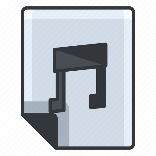 audio, document, extension, file, format, music icon