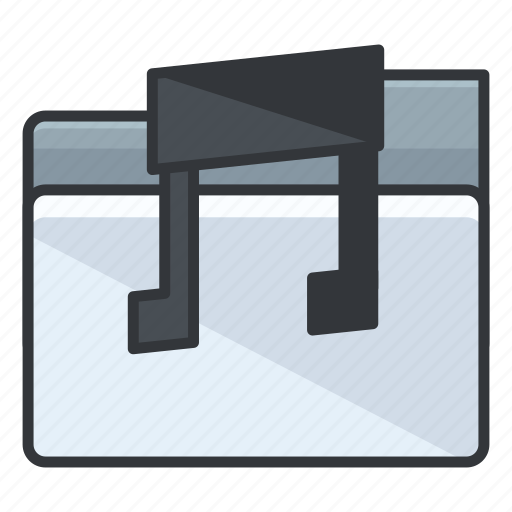 audio, document, file, folder, music, sound icon