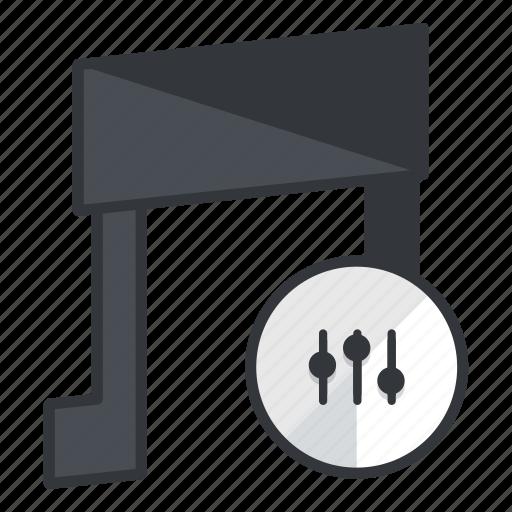 audio, multimedia, music, options, settings, sound icon