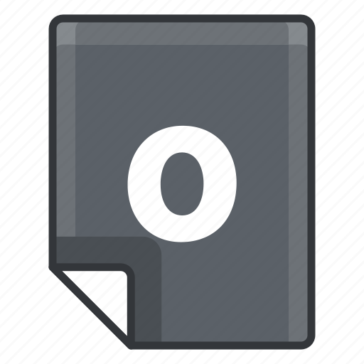 O, document, extension, file, format, page icon - Download on Iconfinder