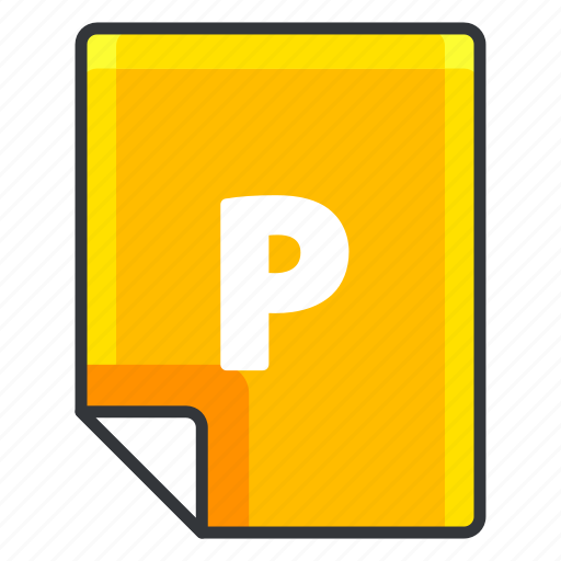 document, extension, file, format, p, page icon