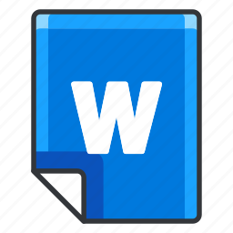 document, documents, extension, file, format, w icon