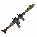 bazooka, fortnite, launcher, rocket, weapon