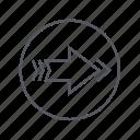 arrow, forward, right, rightward