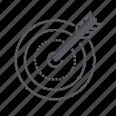 bullseye, darts, spear, target icon