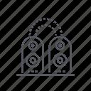 audio, sound, speakers, system icon
