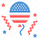 balloon, celebration, independence day, july 4 icon