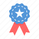 badge, independence day, medal, ribbon icon