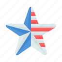 flag, fourth, july, star icon