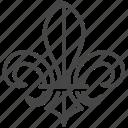 emblem, fleur de lis, france, french, lily, scout icon