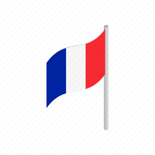 country, flag, france, french, isometric, nation, national icon