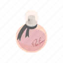 bottle, container, fashion, glass, isometric, luxury, perfume icon