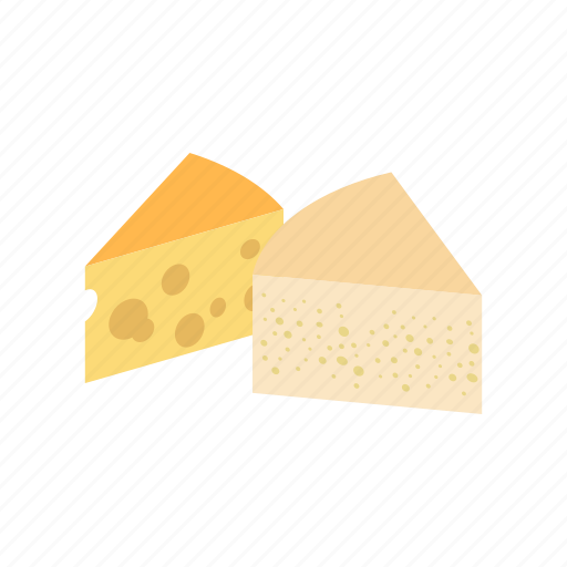cheese, dairy, food, french, gourmet, isometric, yellow icon