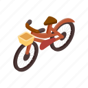 bicycle, bike, cycle, isometric, race, vehicle, wheel icon